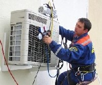 Image: Installation of air conditioning.