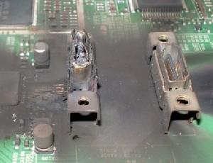 Изображение: Сгоревший HDMI разъем
